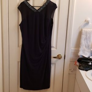 Lauren by Ralph Lauren Navy Blue Dress Size 18